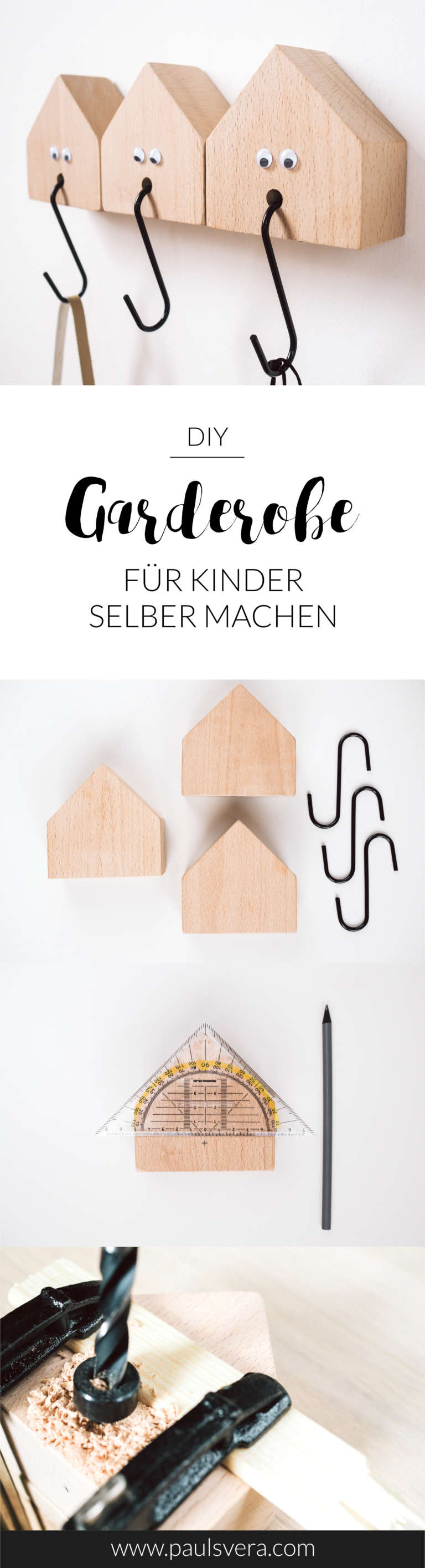 diy kinder garderobe selber bauen paulsvera. Black Bedroom Furniture Sets. Home Design Ideas