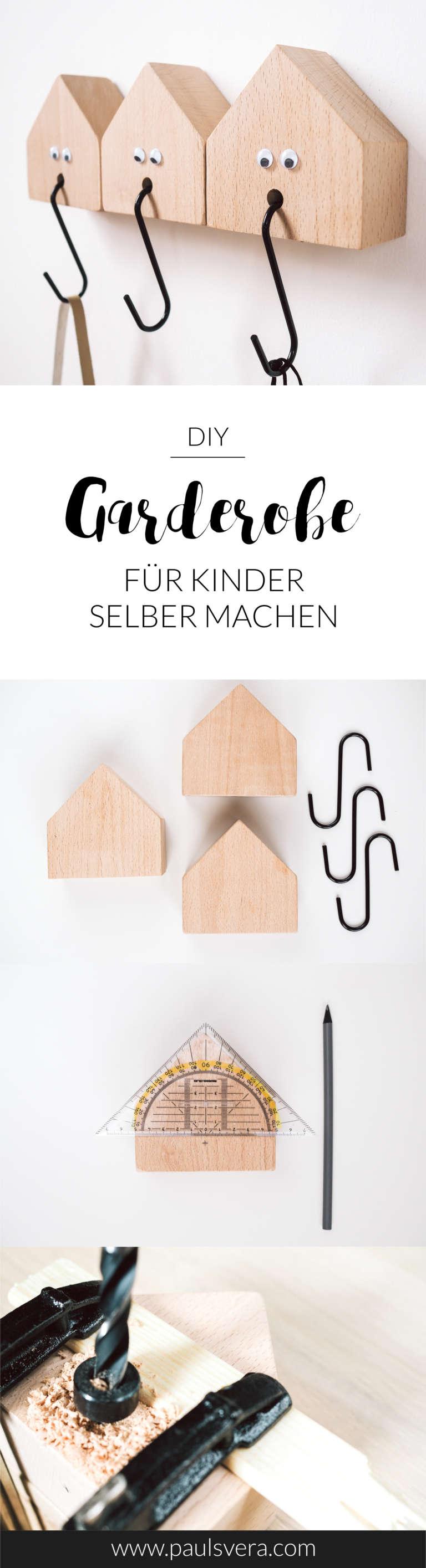 Anleitung Diy Kindergarderobe Selber Machen Holzhauschen Deko Holzhaus Niedlich Suss Kreative Kinderzimmer Ideen Paulsvera 2