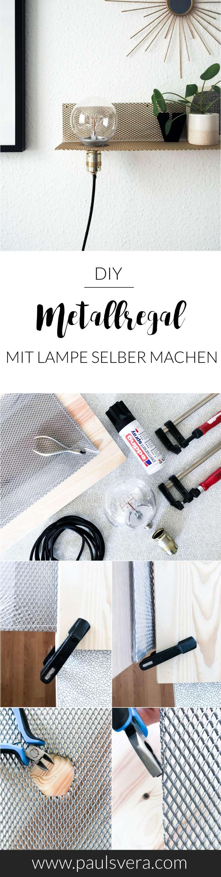 Anleitungsschritte DIY Metallregal für die Wand