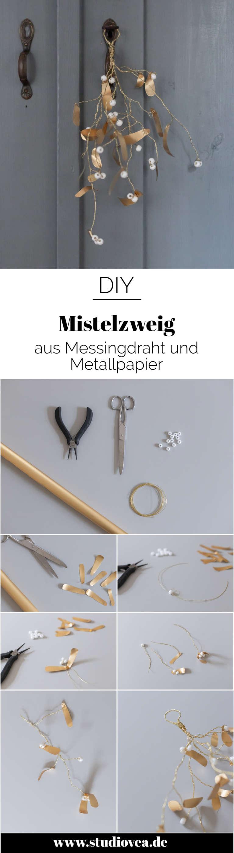 Anleitung DIY Mistelzweig