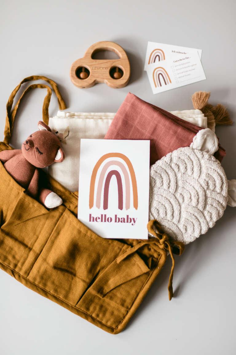 Babyshower Geschenk Druckvorlage Printables Regensbogen Geschenkideen Babies Zur Geburt Kyddo Paulsvera 14