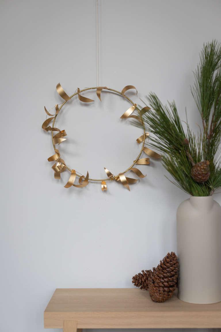 DIY Bastel idee weihnachten deko metallpapier gold studiovea 38