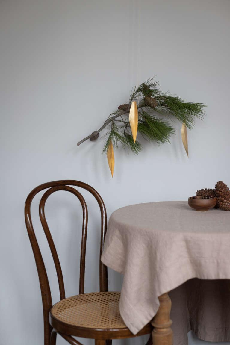 DIY Bastel idee weihnachten deko metallpapier gold studiovea 45