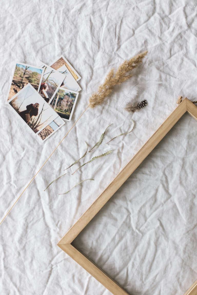 Diy Bilderrahmen Familienerinnerungen Getrocknete Blumen Selber Machen Paulsvera 2