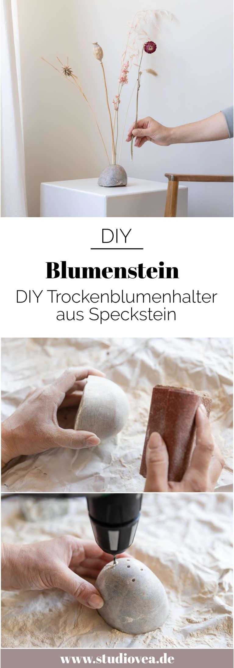 DIY Blumenstein moderne Speckstein Ideen