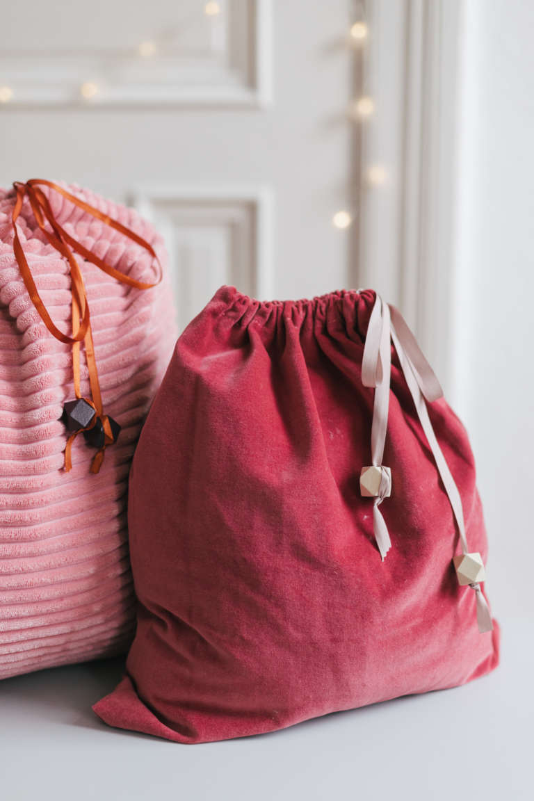 DIY Geschenkbeutel nahen nachhaltig verpacken Geschenkpapier Alternative paulsvera 10