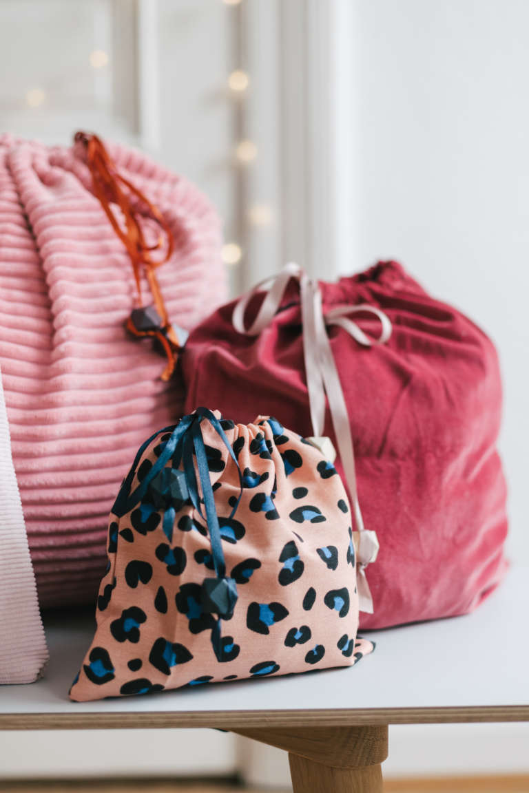 DIY Geschenkbeutel nahen nachhaltig verpacken Geschenkpapier Alternative paulsvera 7