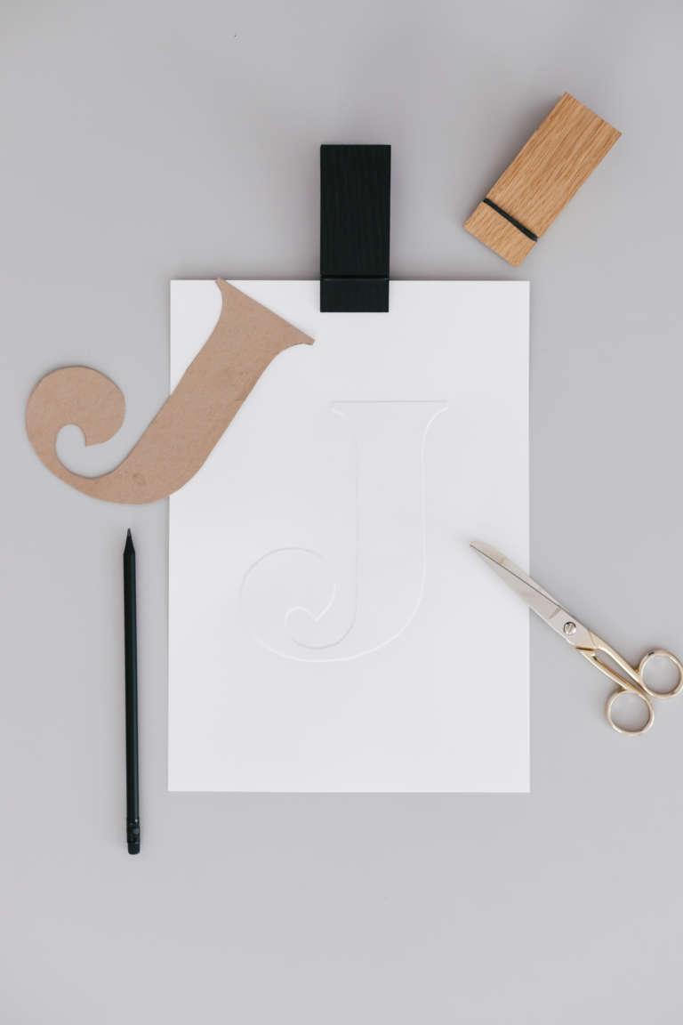 DIY Idee Bilder Typografie Buchstaben pragen Karten pragen Buchstaben paulsvera 15