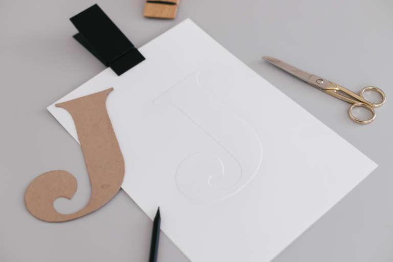 DIY Idee Bilder Typografie Buchstaben pragen Karten pragen Buchstaben paulsvera 18