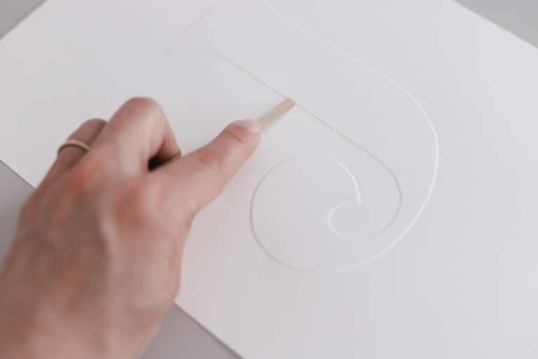 DIY Idee Bilder Typografie Buchstaben pragen Karten pragen Buchstaben paulsvera 19