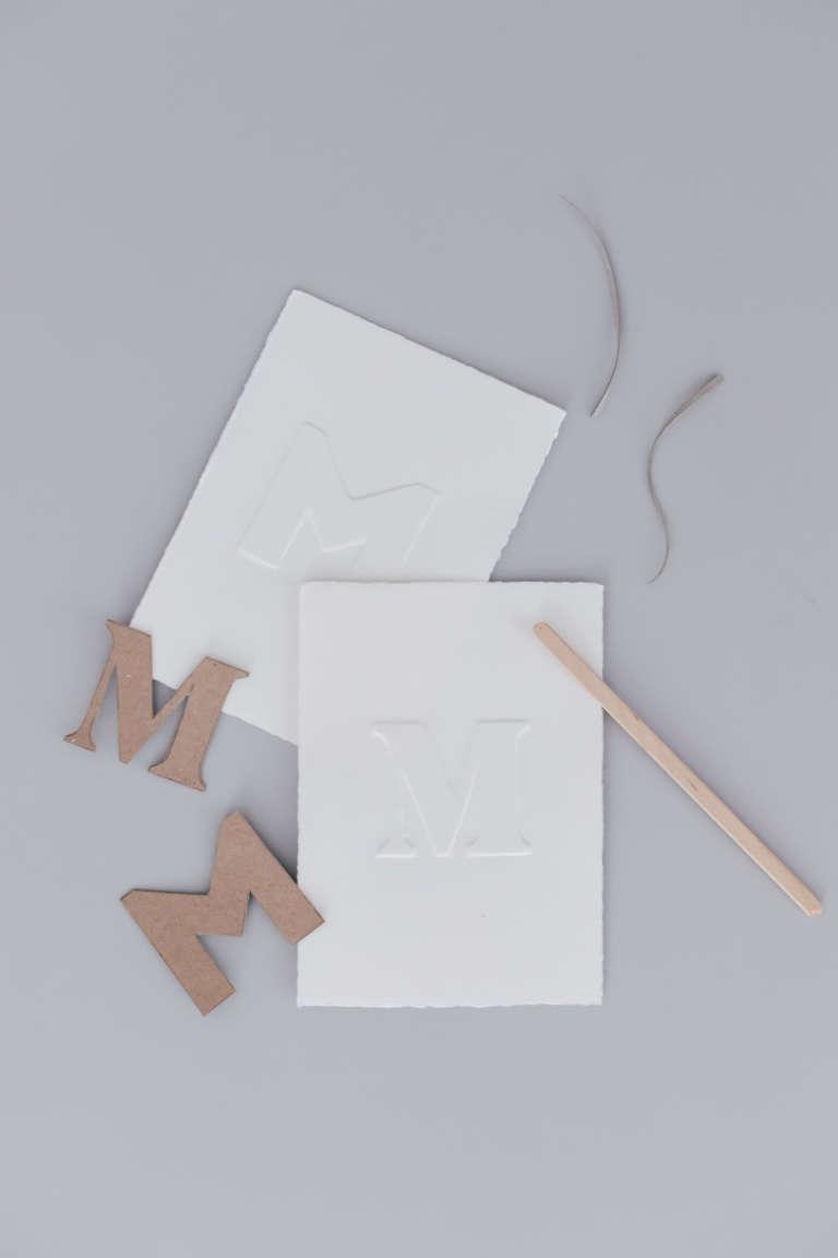 DIY Idee Bilder Typografie Buchstaben pragen Karten pragen Buchstaben paulsvera 33