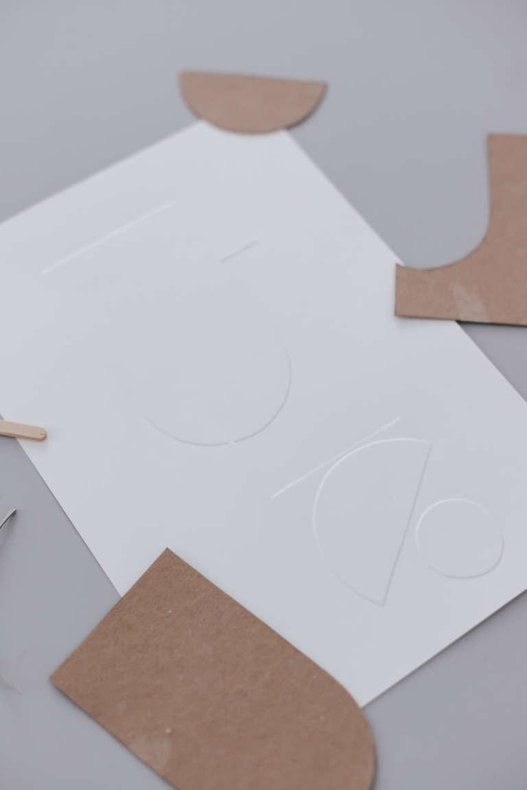 DIY Idee Bilder Typografie Buchstaben pragen Karten pragen Buchstaben paulsvera 35