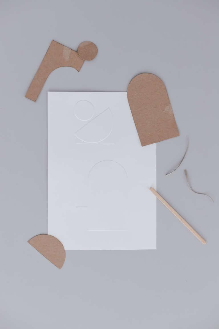 DIY Idee Bilder Typografie Buchstaben pragen Karten pragen Buchstaben paulsvera 36