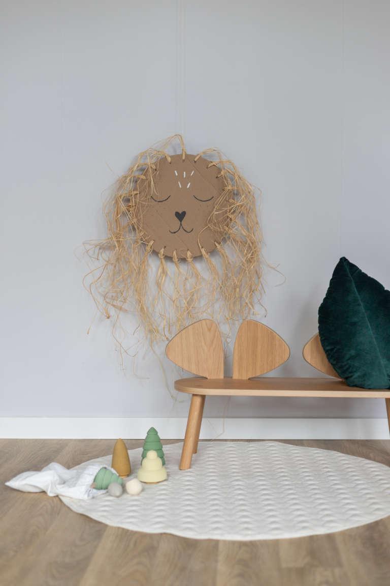 DIY Idee Pappe Karton Upcycling Lowe Kinderzimmer Wanddeko Dekoration Bast studiovea 20