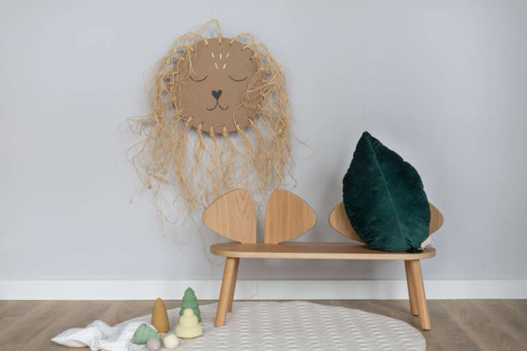 DIY Idee Pappe Karton Upcycling Lowe Kinderzimmer Wanddeko Dekoration Bast studiovea 21