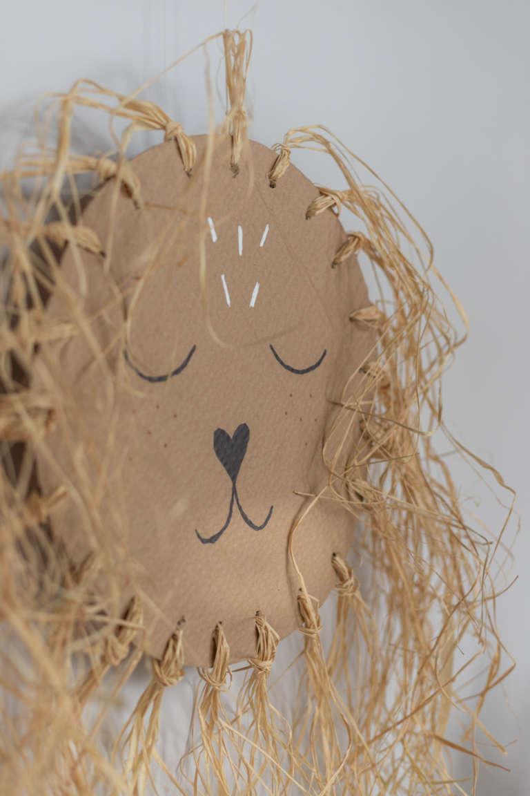 DIY Idee Pappe Karton Upcycling Lowe Kinderzimmer Wanddeko Dekoration Bast studiovea 31