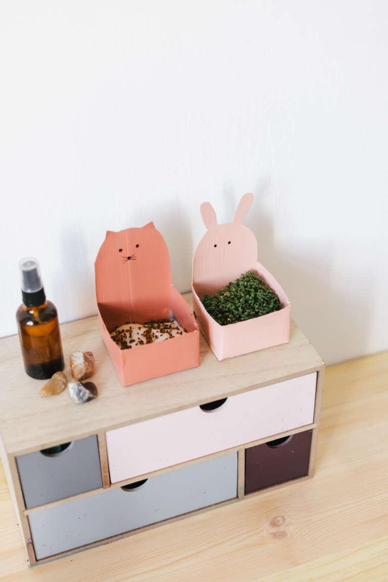 DIY Ideen Kinder niedliche Upycyling Kressetopfe aus Tetrapak mit Tiergesichtern selber machen paulsvera 13