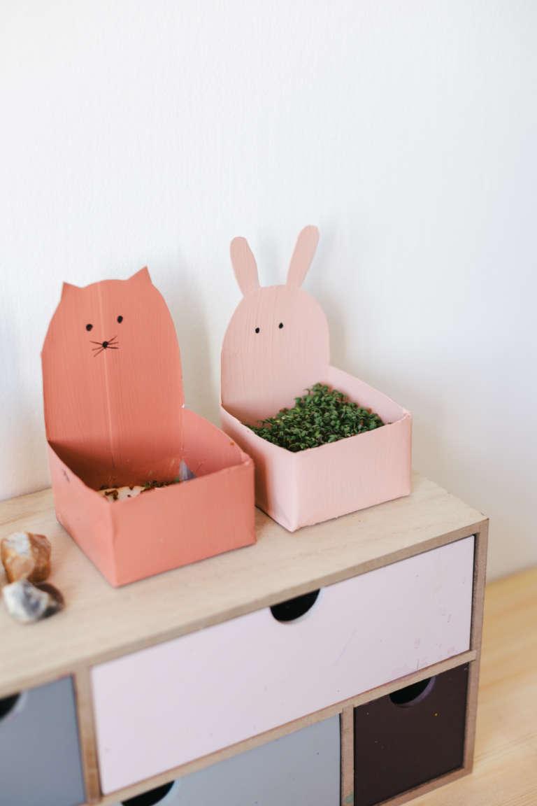 DIY Ideen Kinder niedliche Upycyling Kressetopfe aus Tetrapak mit Tiergesichtern selber machen paulsvera 9