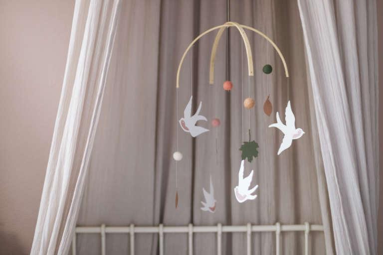 Diy Mobile Selber Machen Baby Kinder Zimmer Filz Freebie Schwalben Paulsvera 27