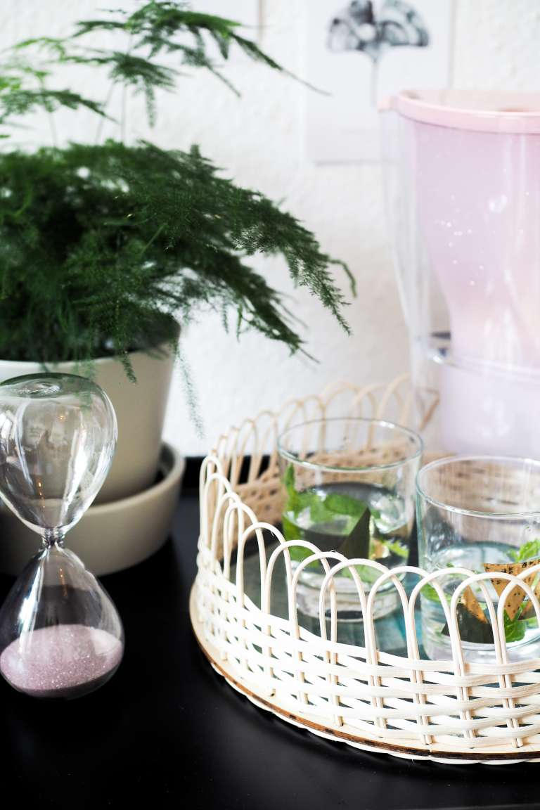 DIY Deko DIY Home DIY Geschenkideen DIY Ideen Tablett Boho Rattan Handmademodernhome paulsvera