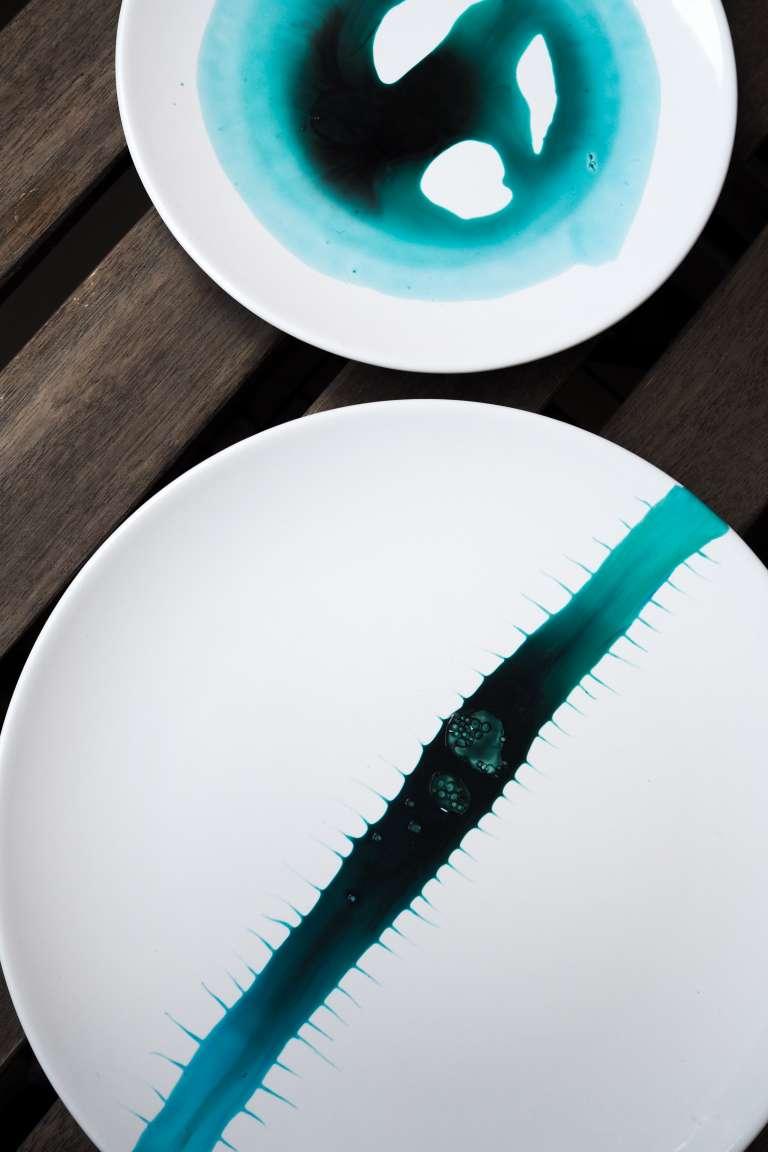 DIY Teller Aquarell Wasserfarben Trend DIY Deko DIY Home paulsvera