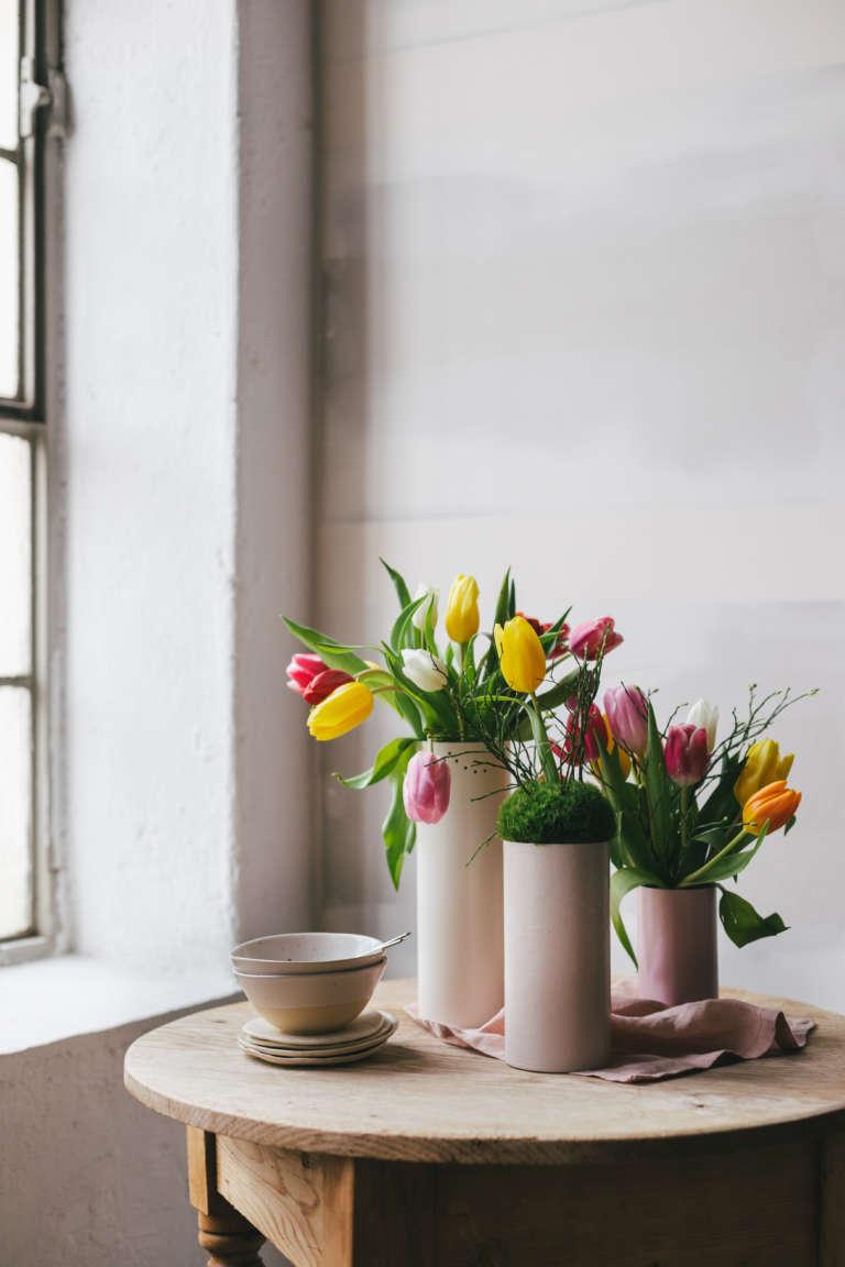 Diy Tischdeko Fruhling Blumen Paulsvera Mymuesli 15