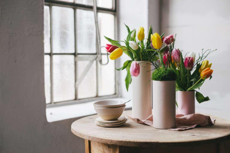 Diy Tischdeko Fruhling Blumen Paulsvera Mymuesli 17