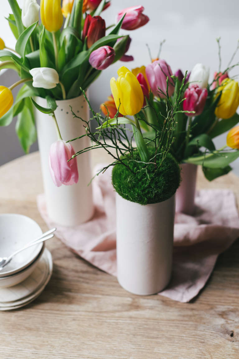 Diy Tischdeko Fruhling Blumen Paulsvera Mymuesli 20