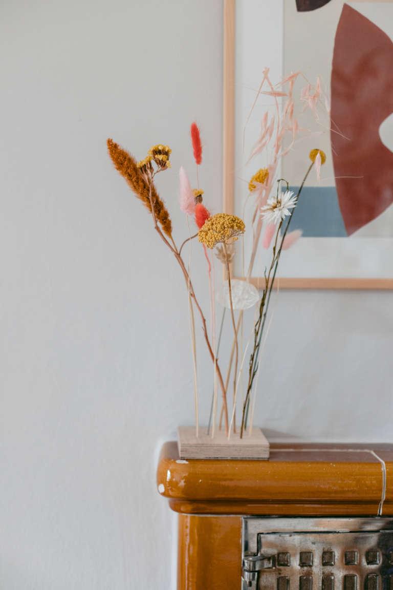 DIY Trockenblumenhalter