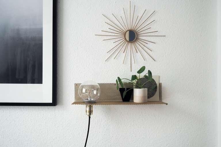 Diy Metallregal Gold Lampe Selber Machen Paulsvera 10