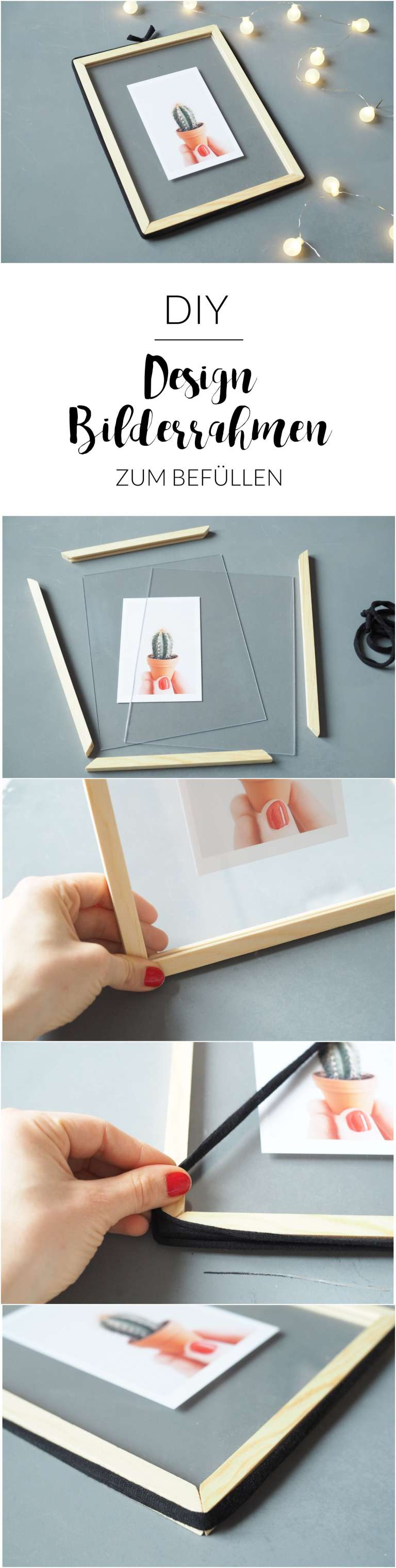 DIY-Design Bilderrahmen zum Befüllen | paulsvera