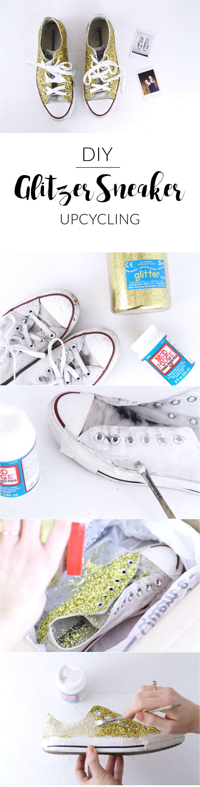 diy stardust sneaker paulsvera. Black Bedroom Furniture Sets. Home Design Ideas