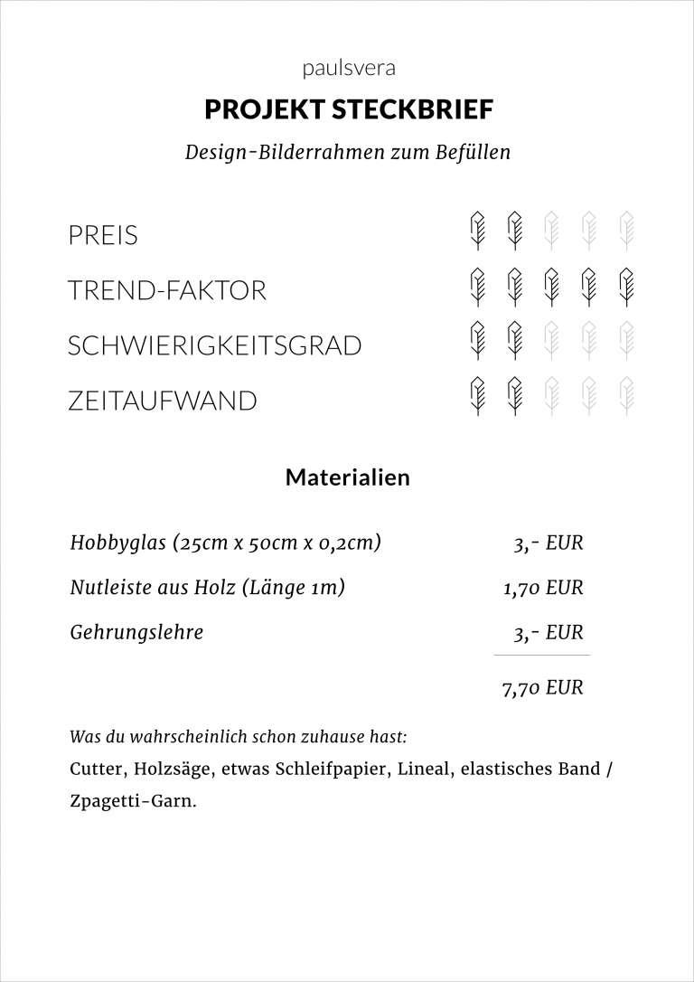 Diy Design Bilderrahmen Selber Basteln Wie Moebe Inspiriert Steckbrief Paulsvera