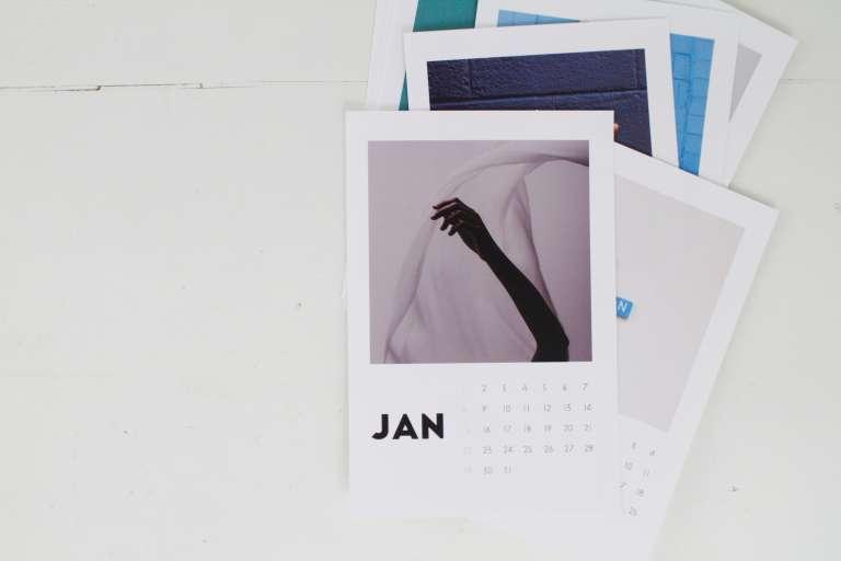 Diy Fotokalender Vorlage Idee Rahmen Halterung Paulsvera