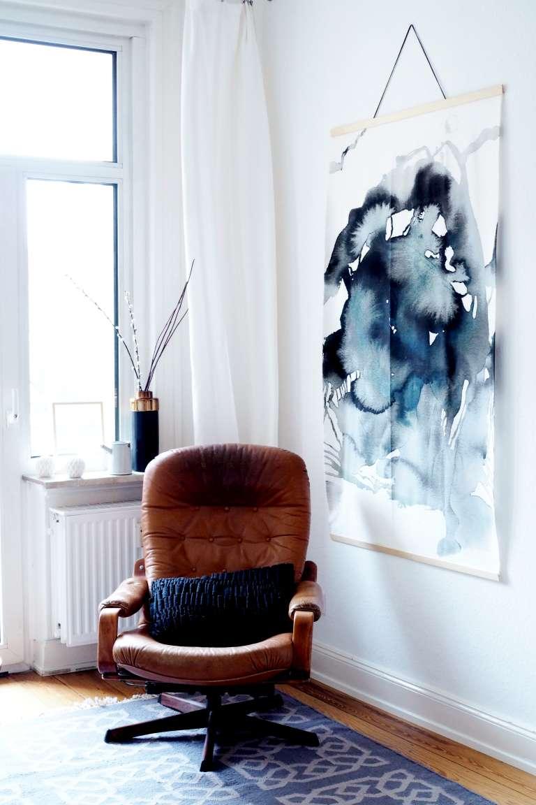 Diy Ikea Hack Diy Aquarell Bild Grossformat Wall Hanging Selbermachen Paulsvera