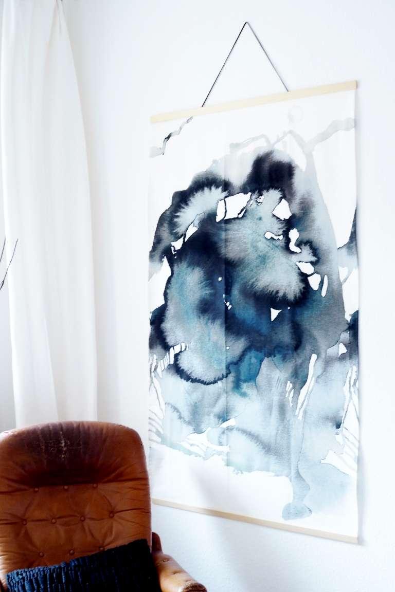 Diy Ikea Hack Diy Aquarell Bild Grossformat Wall Hanging Selbermachen Paulsvera 2