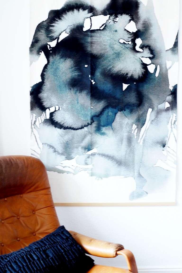 Diy Ikea Hack Diy Aquarell Bild Grossformat Wall Hanging Selbermachen Paulsvera 4
