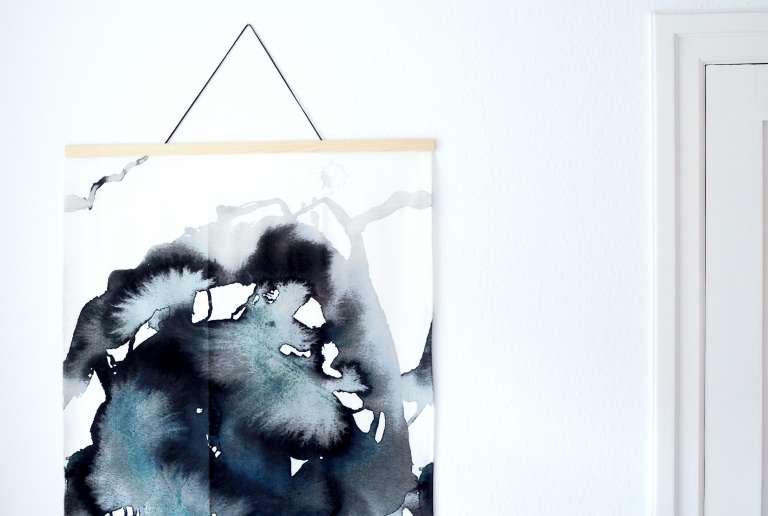 Diy Ikea Hack Diy Aquarell Bild Grossformat Wall Hanging Selbermachen Paulsvera 7