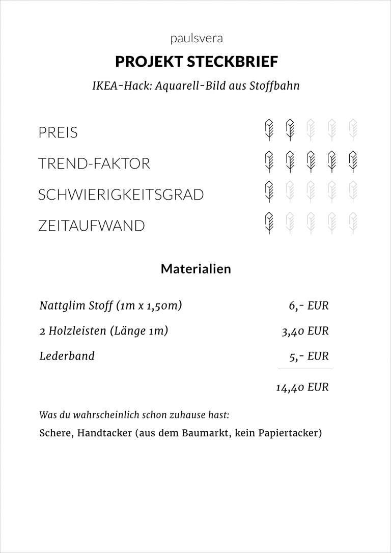 Diy Ikea Hack Aquarell Bild Aus Stoff Grossfromat Bild Selber Machen Wall Hanging Paulsvera