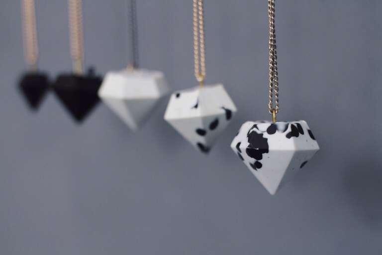 DIY_Schmuck selber machen - Diamantanhaenger_Kette_Ohrring_selbstgemacht_Geschenkidee.