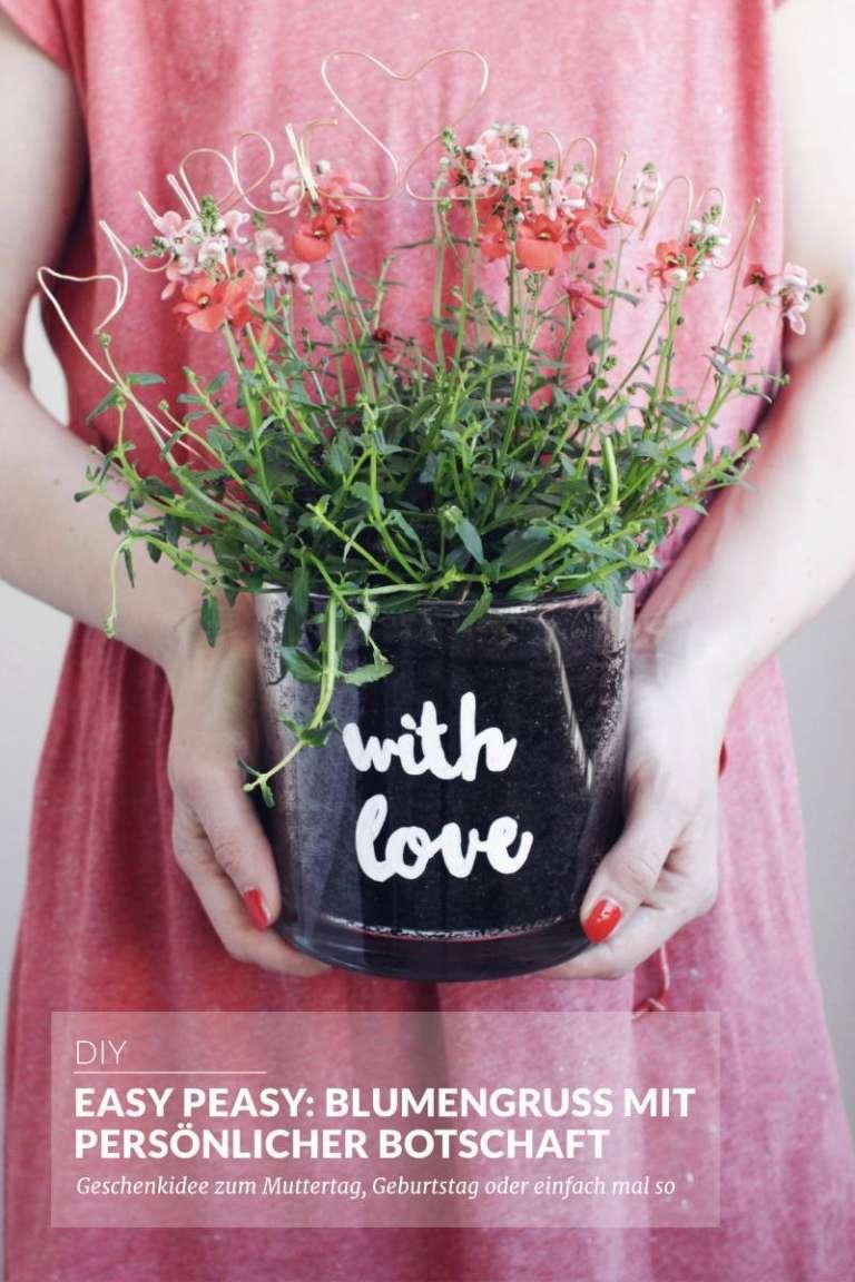 Easy Peasy Geschenkidee Blumengruss Persoenliche Botschaft