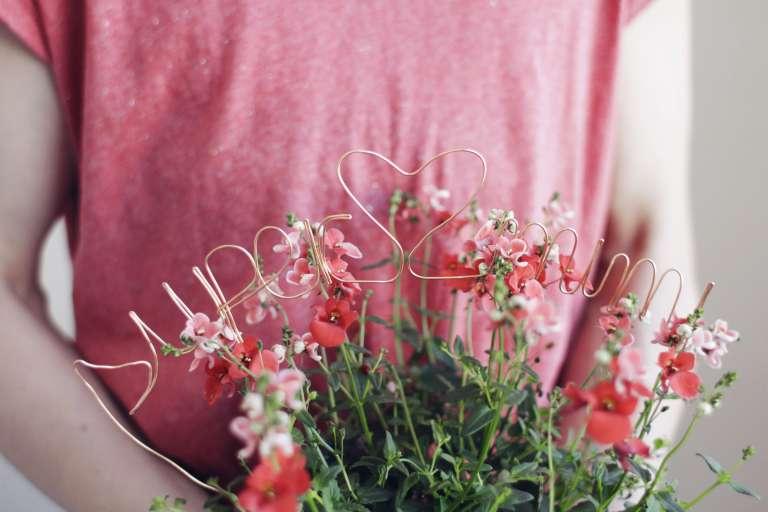 Easy Peasy Blumengruß Mit Persönlicher Botschaft Geschenkidee