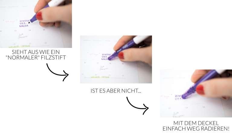 Pilot Frixion weg radierbare Stifte