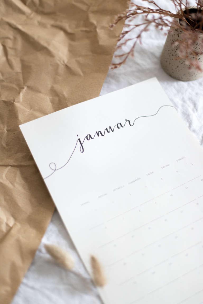Freebie Kalender 2020 Kostenlos Ausdrucken Printables Monatskalender Paulsvera 3