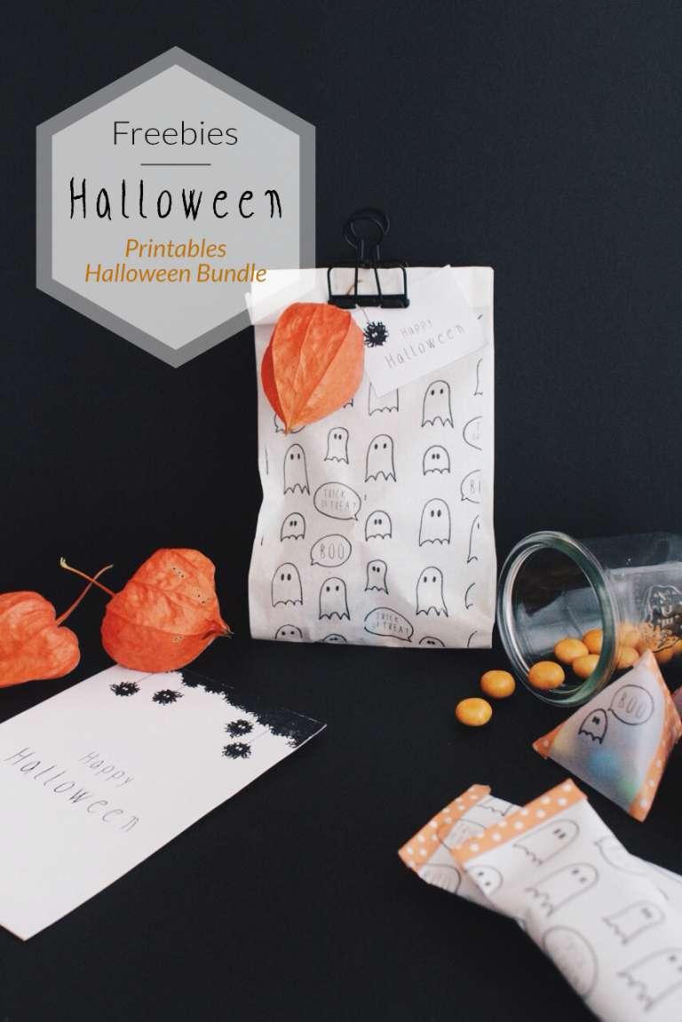 Freebies Printables Druckvorlagen Halloween Geschenkpapier Karten Anhanger Geist Monster Paulsvera