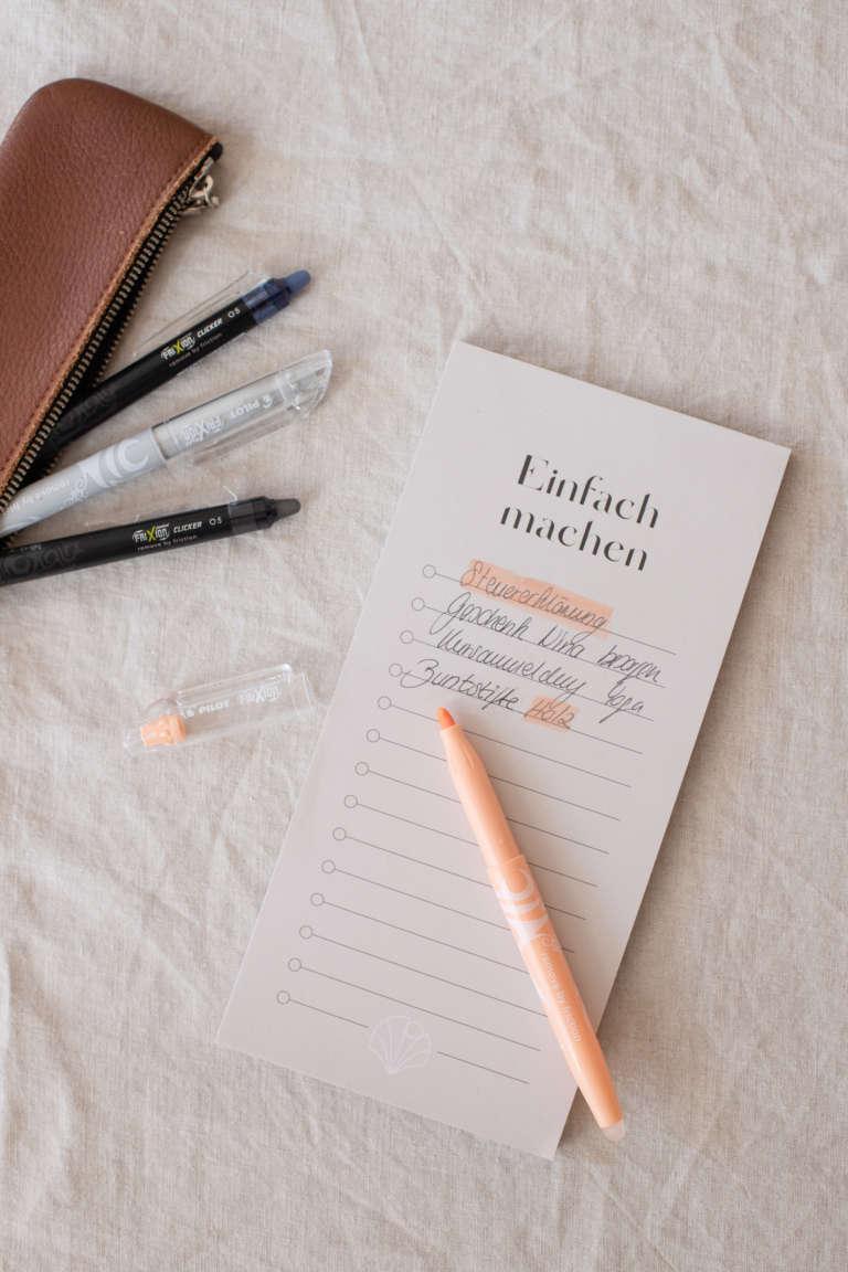 Fri Xion Cllicker Pen Morgenroutine To Do strukturieren Aufgaben studiovea 1