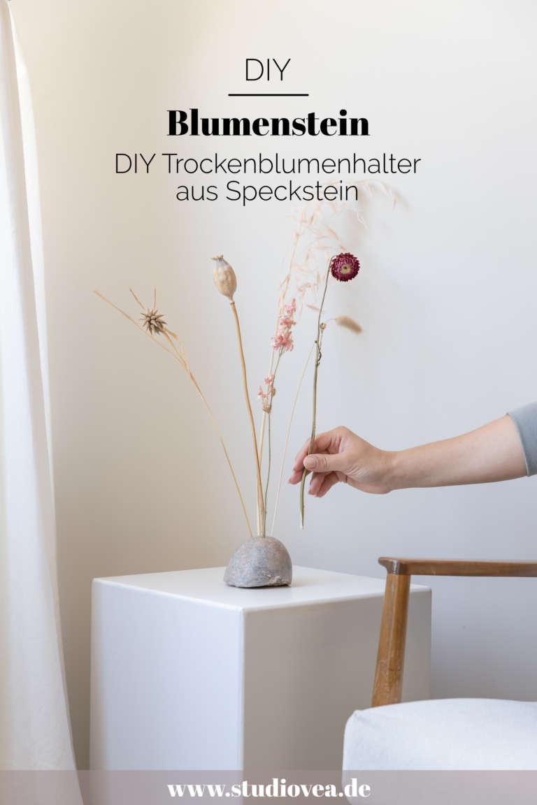 Grafik DIY Blumenstein Trockenblumen Speckstein Ideen Anleitung modern studiovea 11