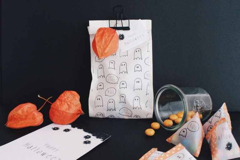 Halloween Ideen Geschenkverpackung_Freebies_Druckvorlagen_kostenlos_Geist