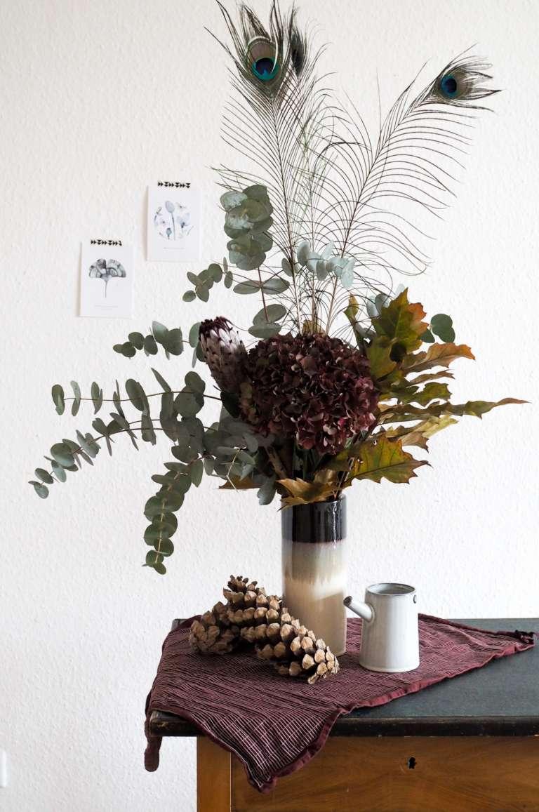 Herbststrauß Blumenstrauß Idee Inspiration Herbstdeko paulsvera