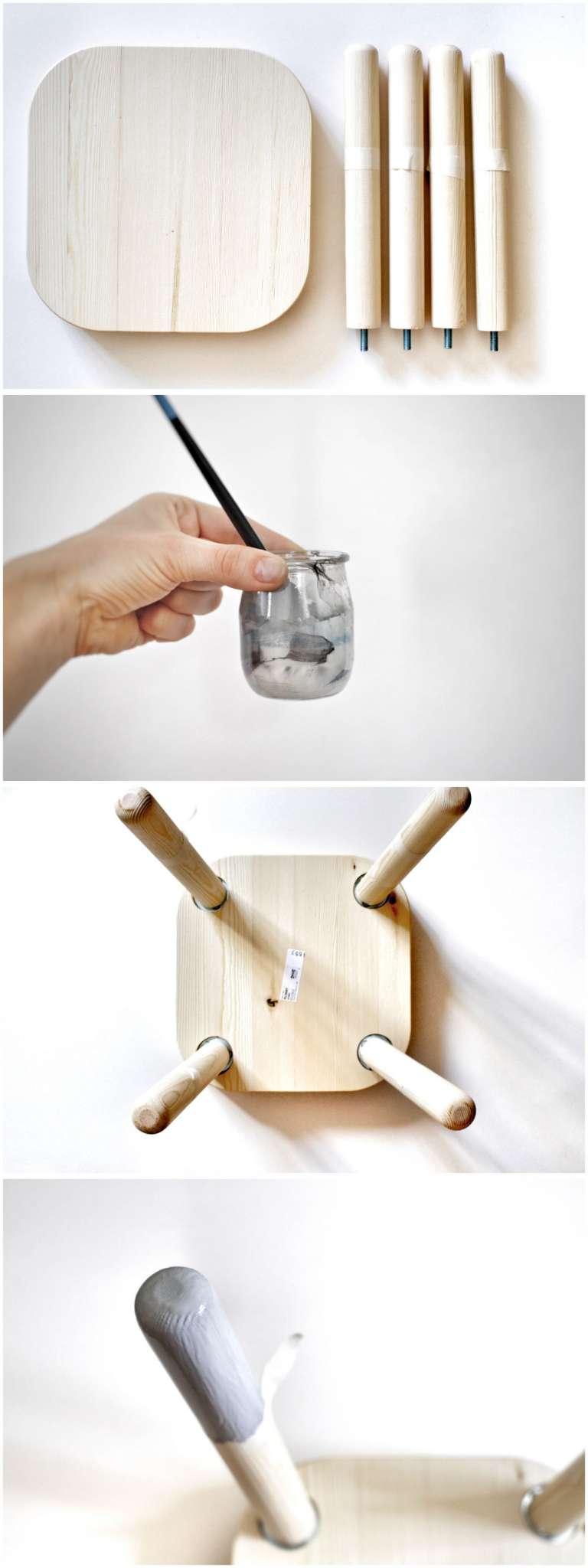 How To Diy Ikea Hack Flisat Hocker Paulsvera